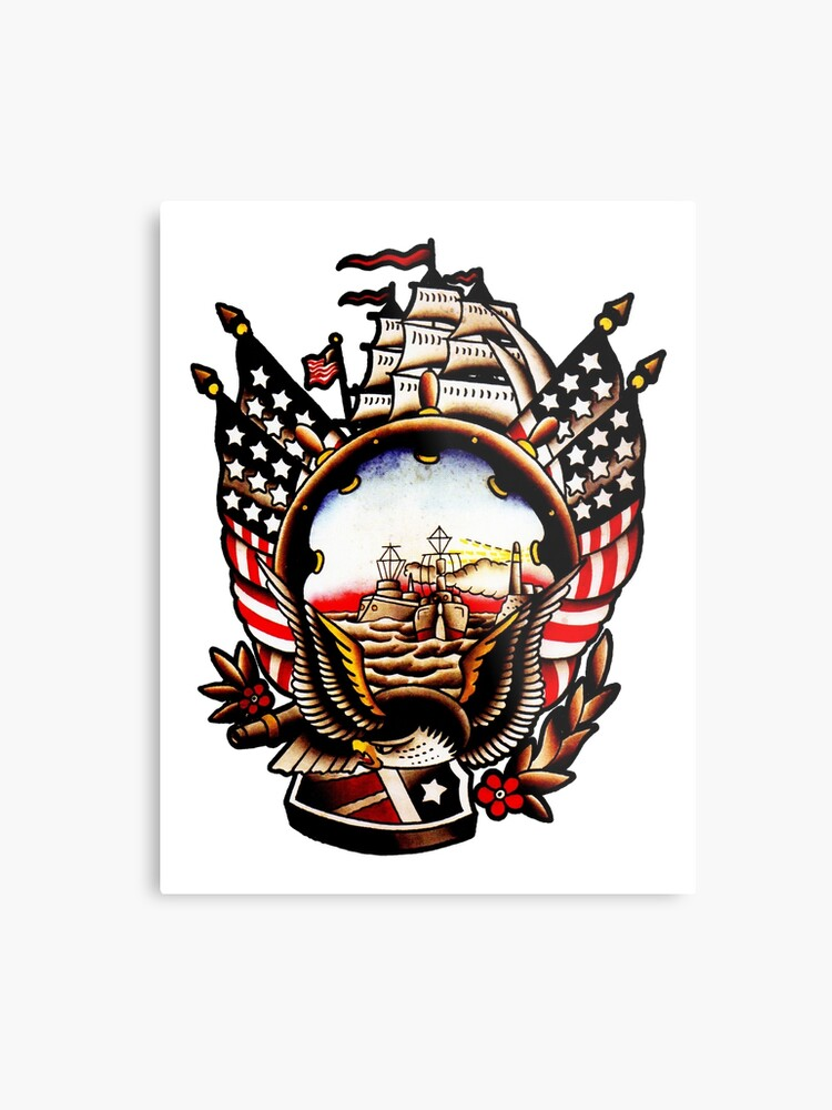 b95162189d60e American Navy Ship Eagle Tattoo design
