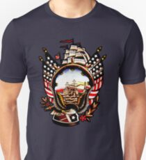 American Navy Ship Eagle Tattoo design Unisex T-Shirt