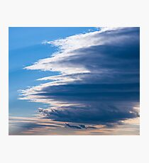 Cloud over cloud over cloud... Photographic Print