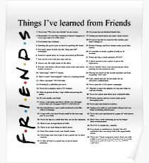 THINGS I'VE LEARNED FROM FRIENDS Poster