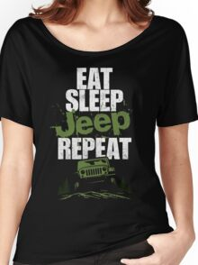 Eat sleep Jeep repeat Women's Relaxed Fit T-Shirt