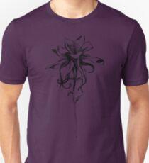 Columbine Flower black and white art sketch Unisex T-Shirt