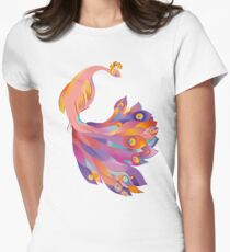 Pink Peacock Fitted T-Shirt