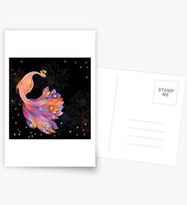 Pink Peacock Postcards
