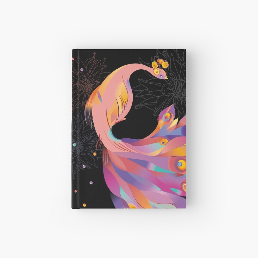 Pink Peacock Hardcover Journal