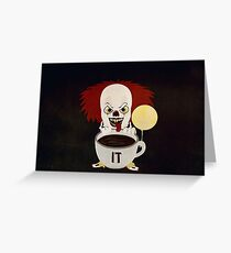 Just Drink It Penny The Clown Greeting Card