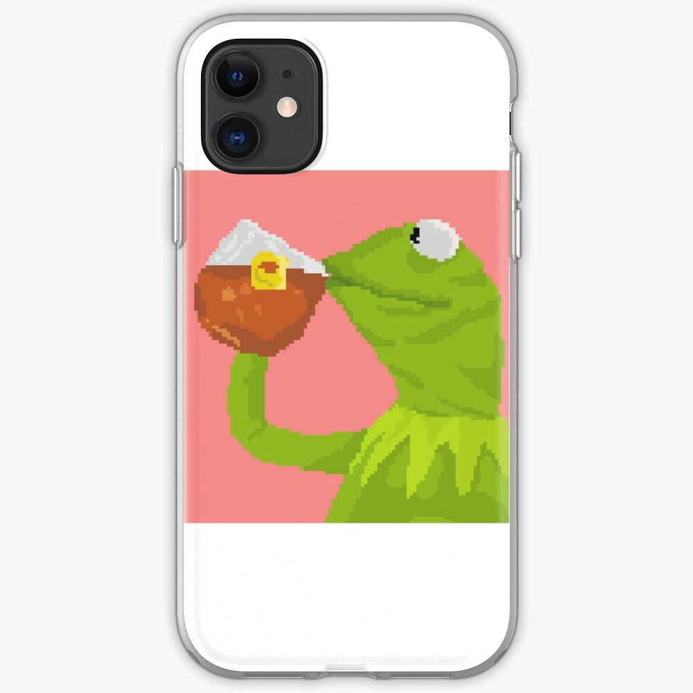 """Kermit The Frog Tea Pixel Art Sticker"" IPhone Case"