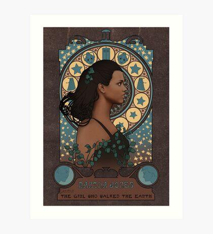 Martha art nouveau  Art Print