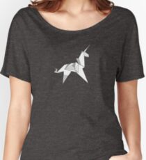 Origami Unicorn  Women's Relaxed Fit T-Shirt