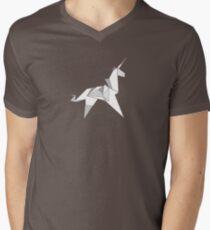 Origami Unicorn  Men's V-Neck T-Shirt