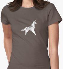 Origami Unicorn  Women's Fitted T-Shirt