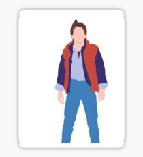 Minimalistic Marty McFly  Sticker