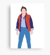 Minimalistic Marty McFly  Canvas Print