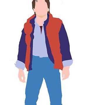 Minimalistic Marty McFly  by -gallifreya-