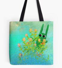 green bunny Tote Bag