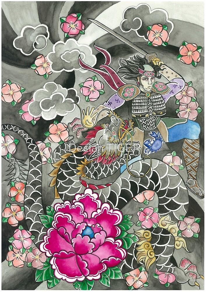 Samurai and Dragon by Declan TIGER
