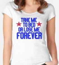 Top Gun - Take Me To Bed Or Lose Me Forever Women's Fitted Scoop T-Shirt