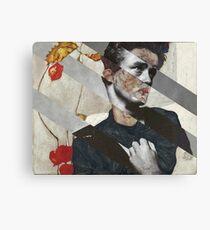 """Egon Schiele's """"Self Portrait with Physalis"""" & James Dean Canvas Print"""