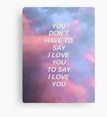 You don't have to say I love you Troye {SAD LYRICS} Metal Print
