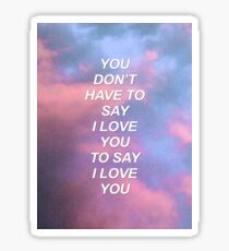 You don't have to say I love you Troye {SAD LYRICS} Sticker