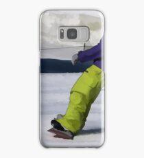 Snowboarder Finishing Stop Samsung Galaxy Case/Skin