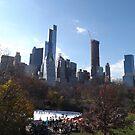 Autumn Foliage, Skating Rink, Central Park South Skyline, Central Park, New York City   by lenspiro