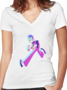 Sneak Around Women's Fitted V-Neck T-Shirt