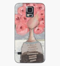Pink flowers in her hair Case/Skin for Samsung Galaxy