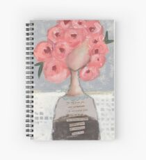 Pink flowers in her hair Spiral Notebook