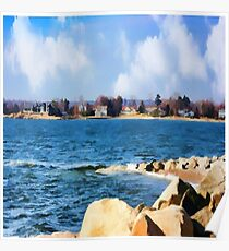 New England Shoreline - Painterly Poster
