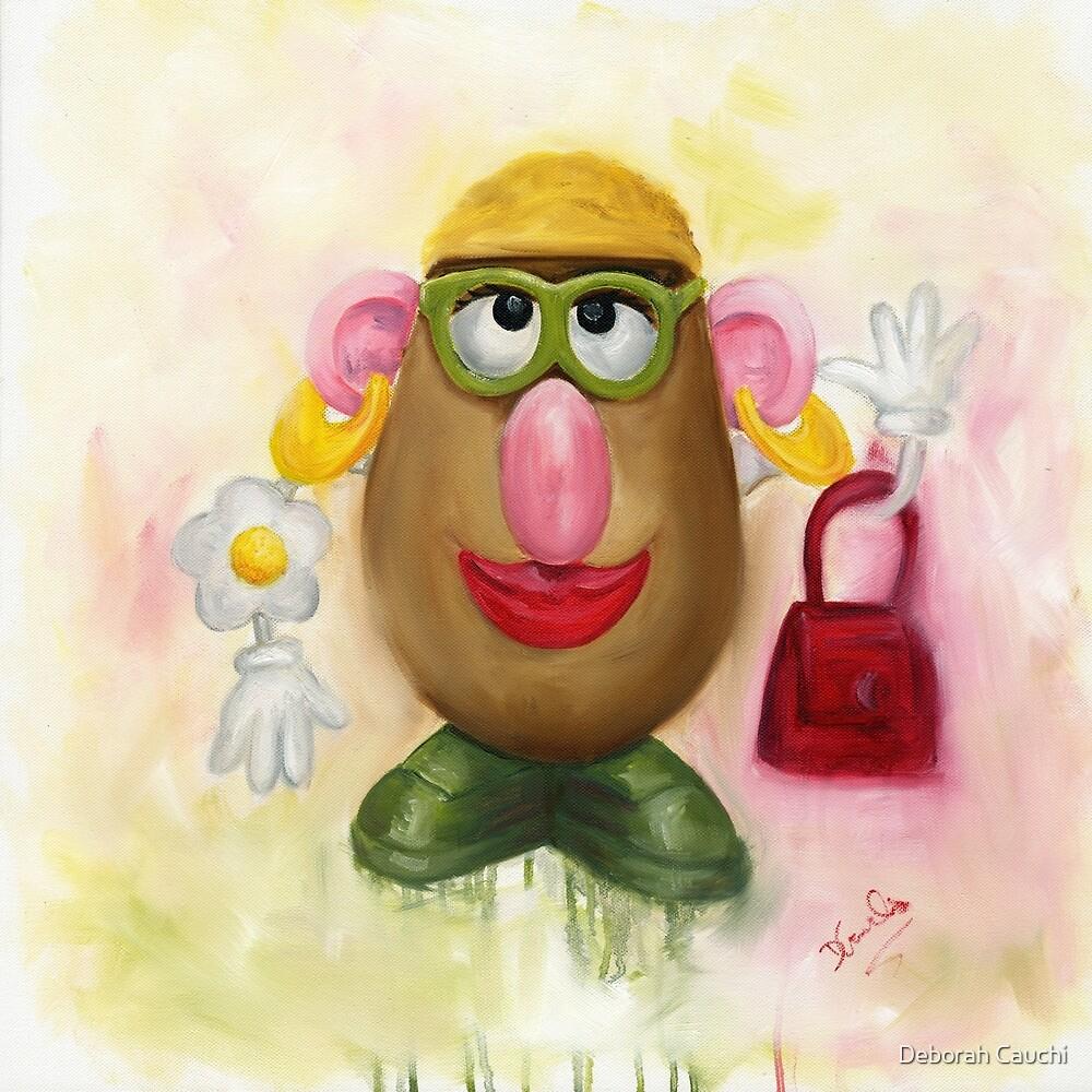 Mrs Potato Head - she's found her eyes! by Deborah Cauchi