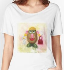 Mrs Potato Head - she's found her eyes! Women's Relaxed Fit T-Shirt