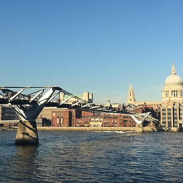 Millennium Bridge and St Pauls Cathedral by emimarie