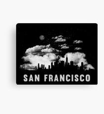 San Francisco California Skyline Cityscape Canvas Print