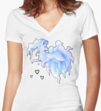 Alola Ninetails  Women's Fitted V-Neck T-Shirt