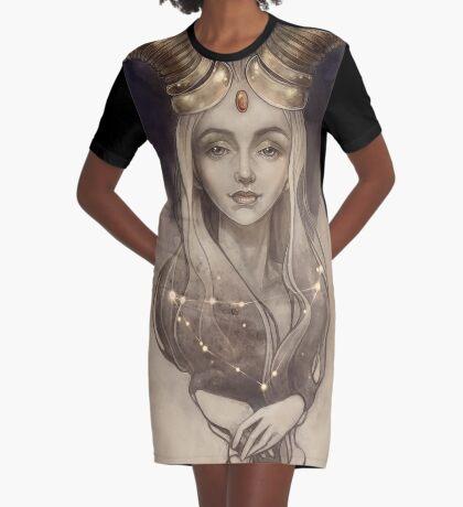 Zodiac Capricorn Graphic T-Shirt Dress