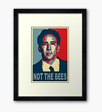 Nicolas Cage - Not the Bees Framed Print