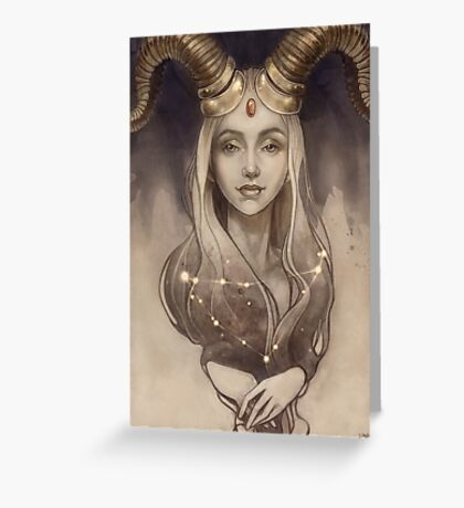 Zodiac Capricorn Greeting Card