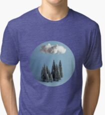 A cloud over the forest Tri-blend T-Shirt