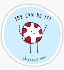 encourage mint Sticker