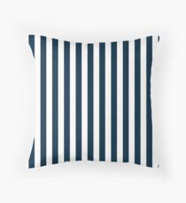 Large Christmas Blue and White Cabana Tent Stripe Throw Pillow