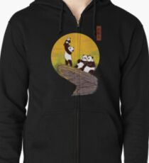 The Panda King Zipped Hoodie
