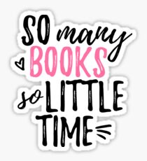 so many books (in pink) Sticker
