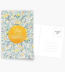 Stay Curious – Yellow & Green Postcards