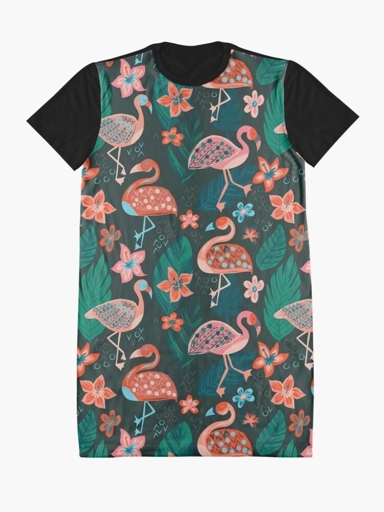 Vista alternativa de Vestido camiseta Flamingo Parade