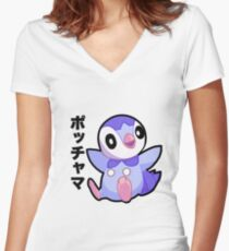 Piplup Women's Fitted V-Neck T-Shirt