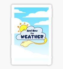 And Now the Weather Page Sticker