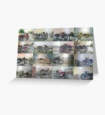 16 Classic British Motorcycles Greeting Card