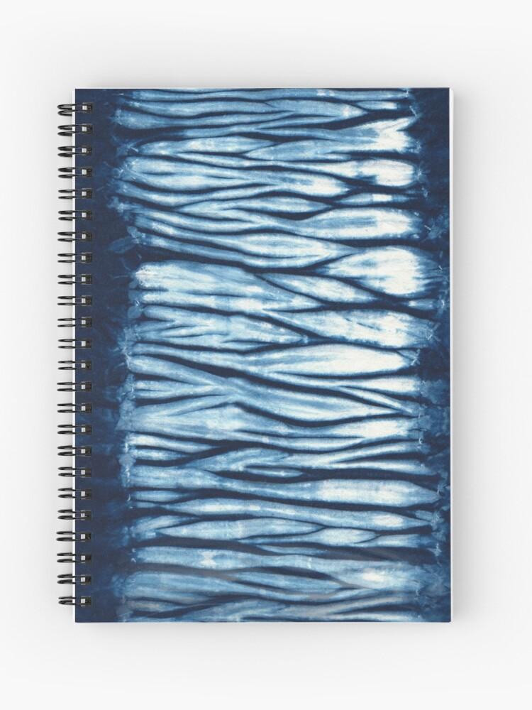 Indigo Blue Japanese Shibori Tie Dye | Spiral Notebook