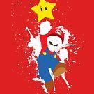Super Mario Splattery T-Shirt by thedailyrobot